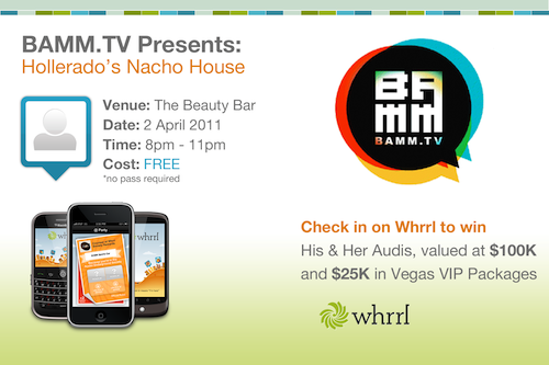 bammtv and whrrl present nacho house party at sxsw